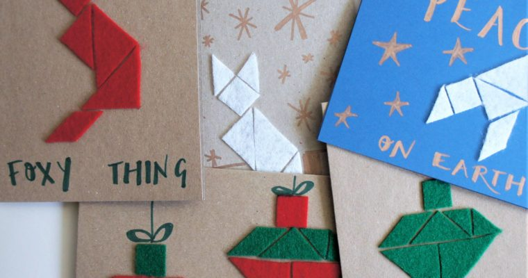 Free tutorial for your Mind crafternoon – modern geometric felt Christmas cards